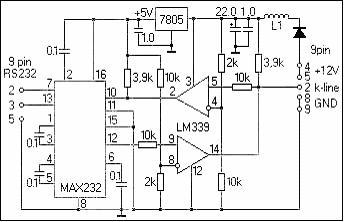 Max232 схема адаптера